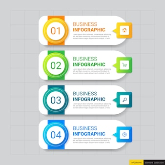 Business infographics template with four steps