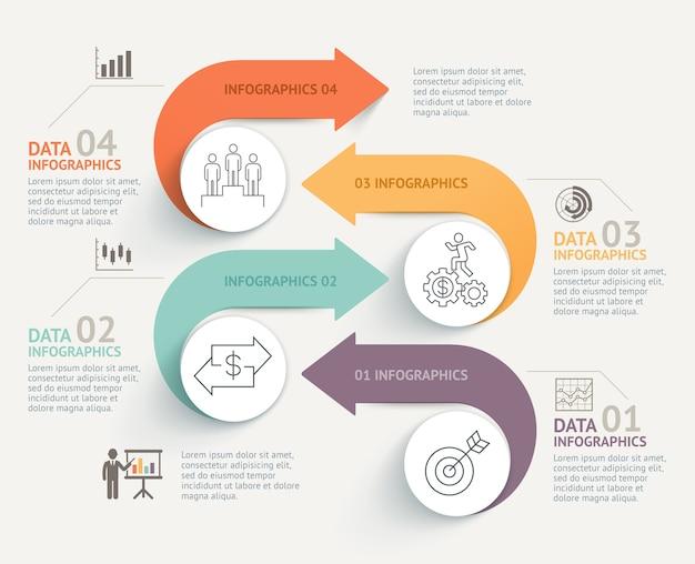 ビジネスインフォグラフィックタイムラインテンプレートの背景
