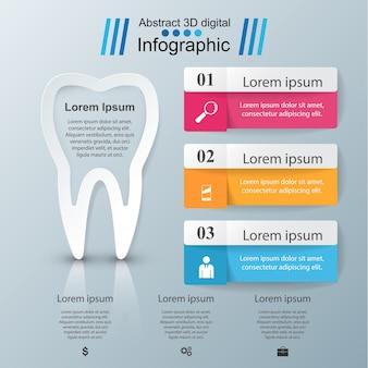 Деловая инфографика. иконка зуба.