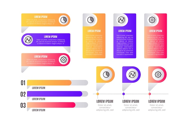 Business infographics with element collection
