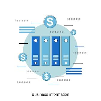 비즈니스 정보 평면 디자인 스타일 벡터 개념 그림