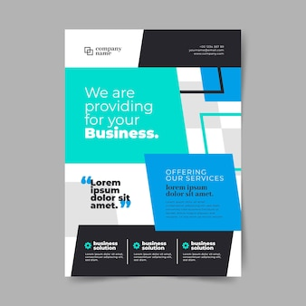 Business information flyer template