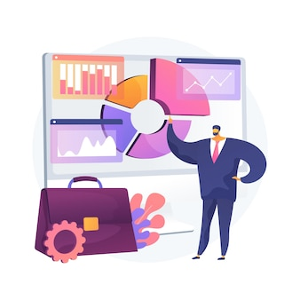 Business information system abstract concept illustration