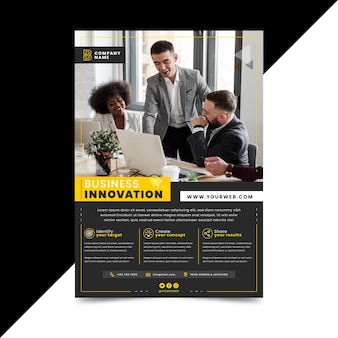 Business innovation flyer template