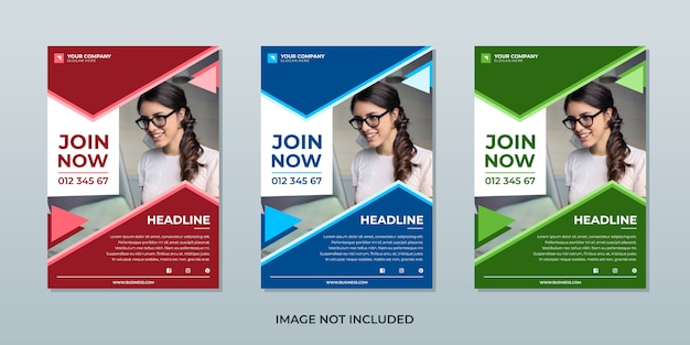 Business inspiration flyer template