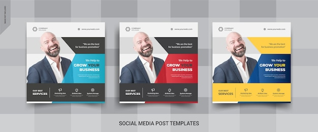 Business instagram post feed template design
