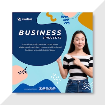 Business instagram post template