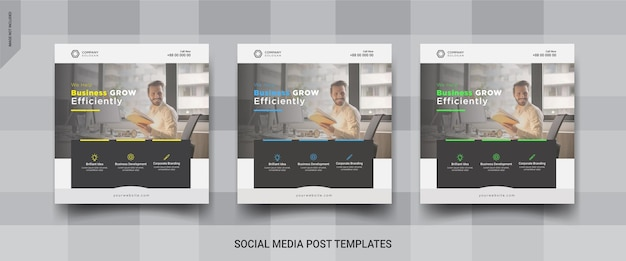 ビジネスinstagramソーシャルメディア投稿テンプレート