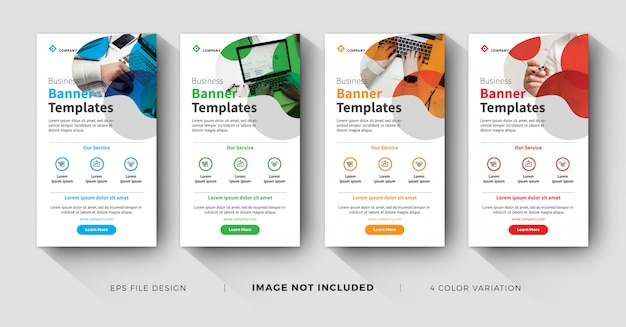 Business instagram stories minimal and color variation Premium Vector
