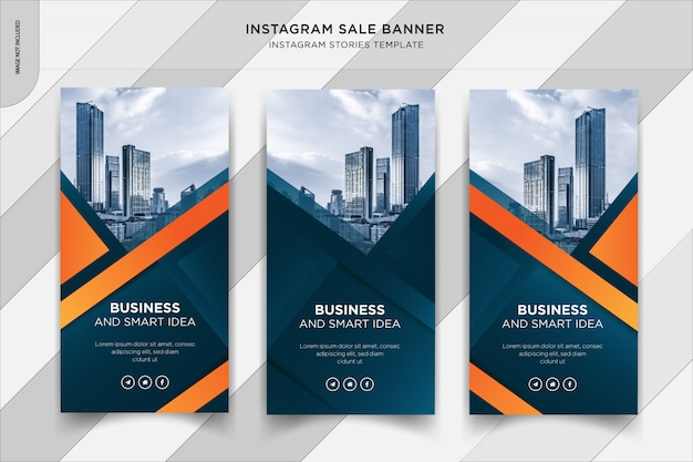 Business instapost stories banner, social media post template