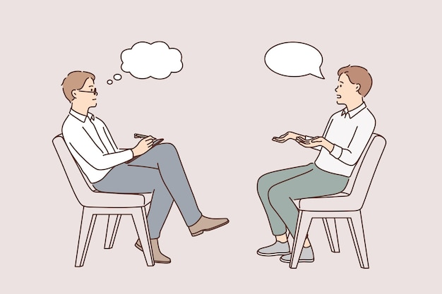비즈니스 인터뷰 및 머리 사냥 개념