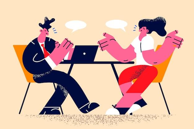 ビジネス面接と人材の概念