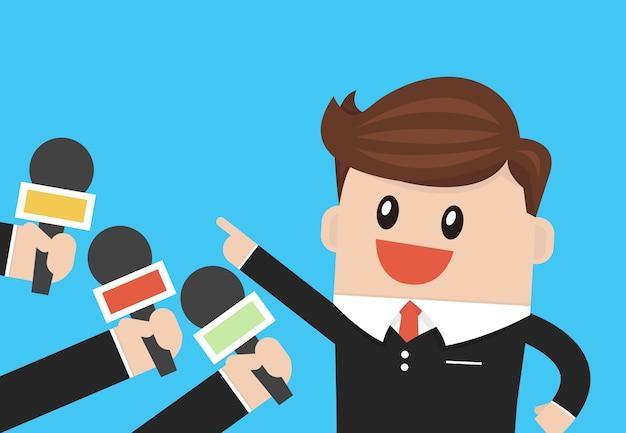 Business interview flat design vector