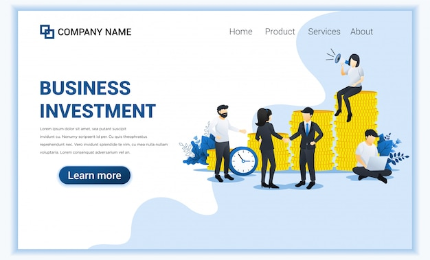 Business investement concept with characters in investment innovation.