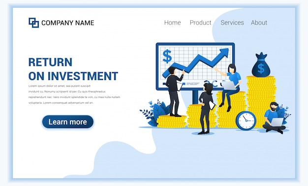 Business investment concept with people managing financial and investment chart on screen.
