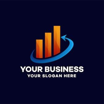 事業投資のグラデーションロゴデザイン