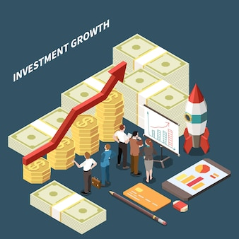 Business investment growth illustration