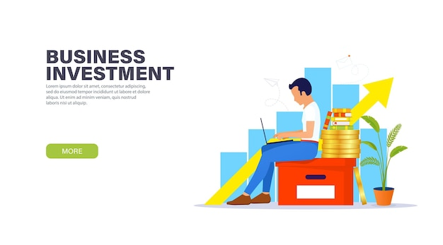 事業投資のランディングページの概念。