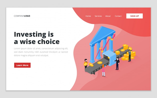 사업 투자 방문 페이지 템플릿