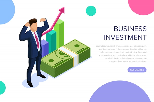 Business investment landing page