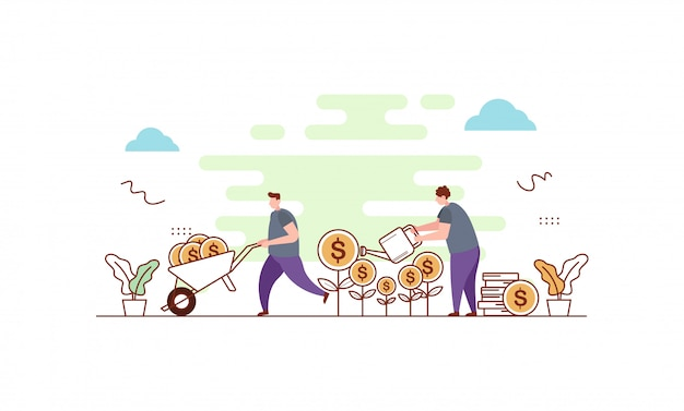 Business investment scene