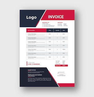 Business invoice tamplete design