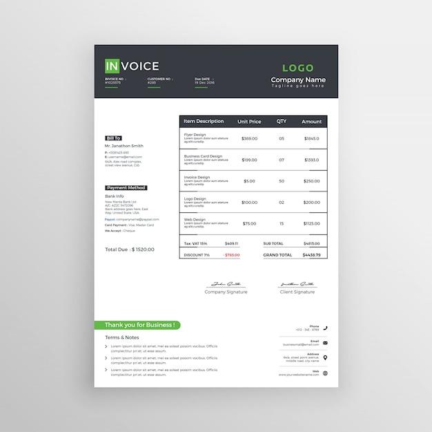 Шаблон бизнес-счета