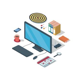 Бизнес, изометрическая иллюстрация