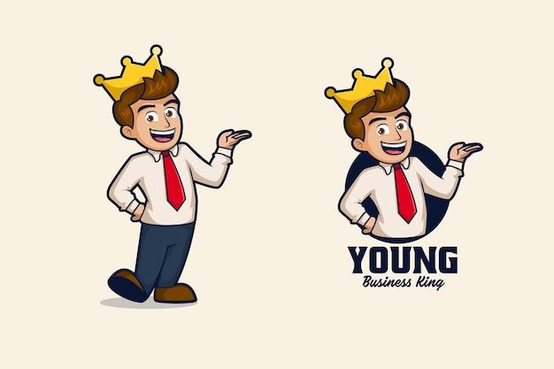 Business king logo illustration