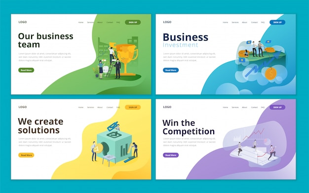 Business landing page collection template
