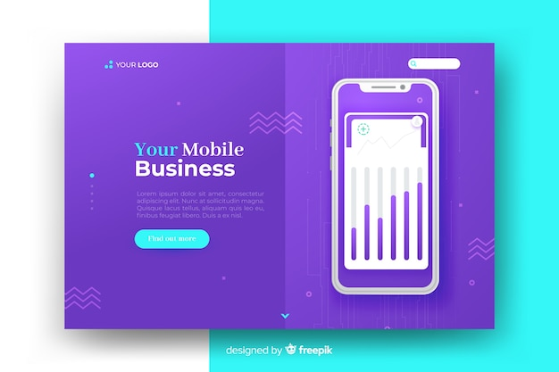 Business landing page concept