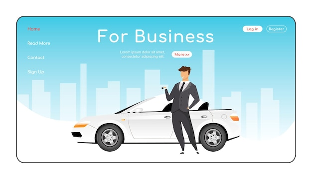 For business landing page flat color template
