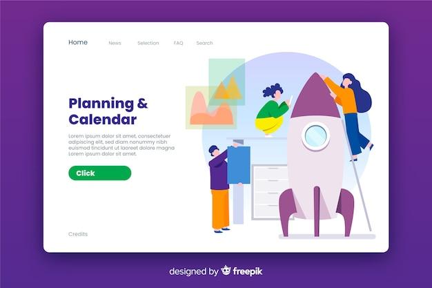 Business landing page flat design