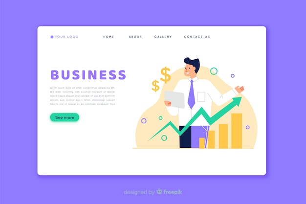 Business landing page homepage