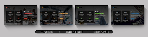 Business landing page template set