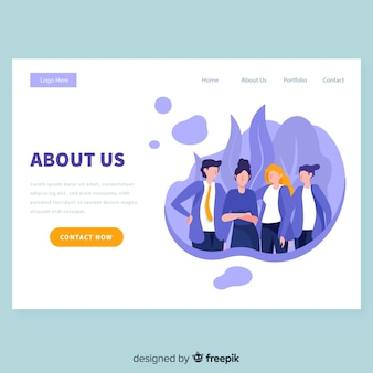 Business landing page template