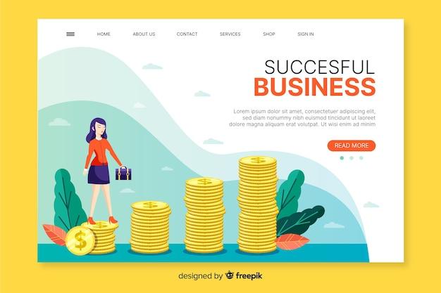Business landing page web design