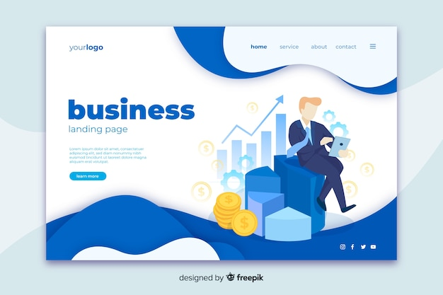 Business landing page web template