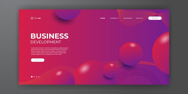 추상적인 현대적인 3d 배경을 가진 비즈니스 방문 페이지입니다. 방문 페이지 디자인을 위한 트렌디한 추상 액체 배경. 웹사이트 디자인을 위한 최소한의 배경.