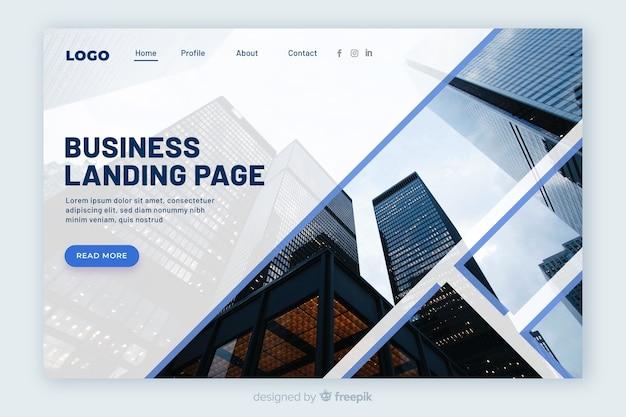 Бизнес целевая страница с фотографией