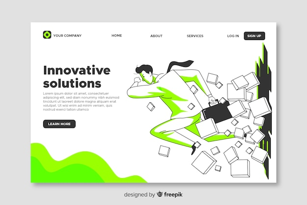 Business landing page