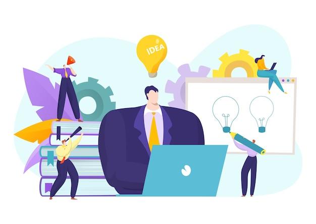 Бизнес-лидер и люди команды идей
