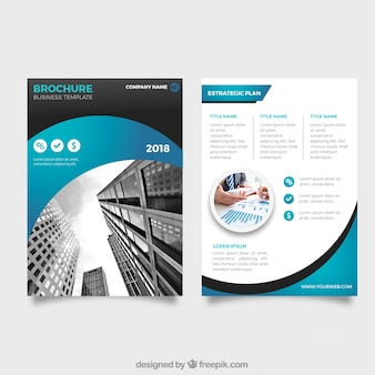 Business leaflet in abstract style