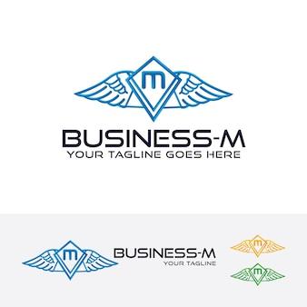 Бизнес-буква m векторный логотип шаблон