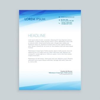 Business letterhead in blue color