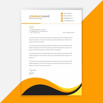 ビジネスレターヘッドテンプレートデザインコーポレートアイデンティティ。