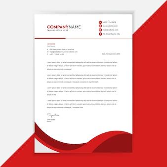 Business letterhead template design corporate identity.