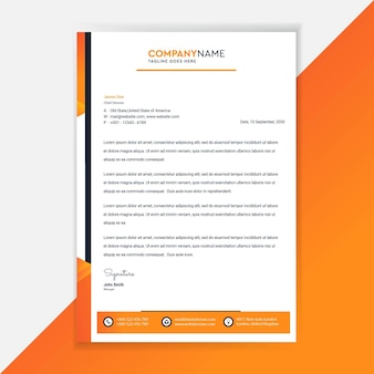 Business letterhead template design corporate identity.