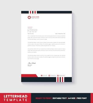 Business letterhead template design for office