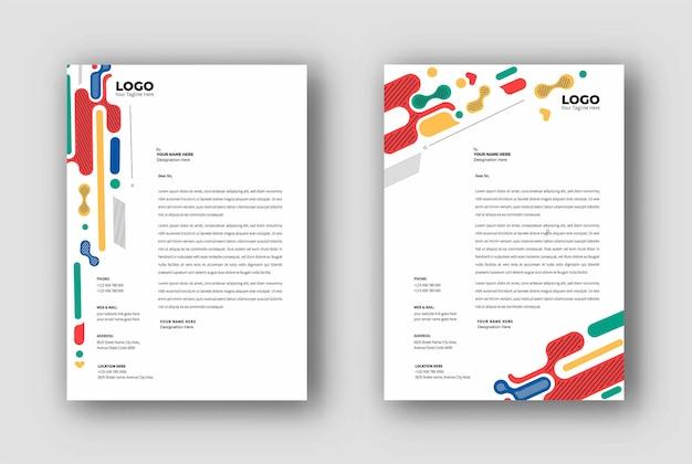 Business letterhead templates design, vector illustration. Premium Vector